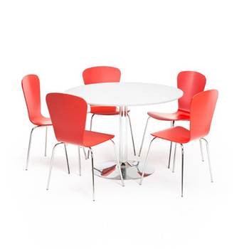 Package deal: café table + five chairs