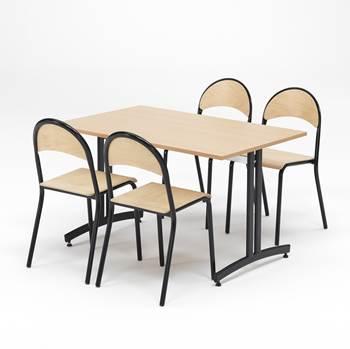 Zestaw do jadalni, Stół + 4 krzesła