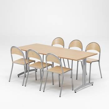 Zestaw do jadalni 1 stół + 6 krzeseł