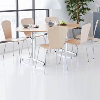 Pakkepris: Kantinebord + 6 formpressede stoler