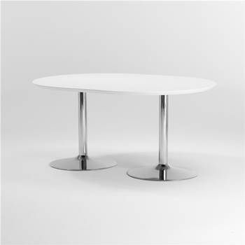 Rounded conference table