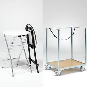 Pakkepris: Ståborde + vogn
