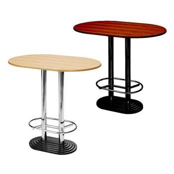 Stół barowy na stopie o podwójnej kolumnie