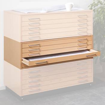 Wooden drawing cabinet: drawer unit