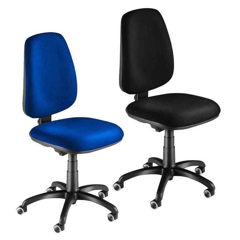 Office chair: push button adjustment