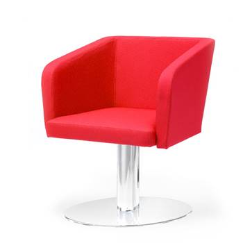 Conference chair with round plate