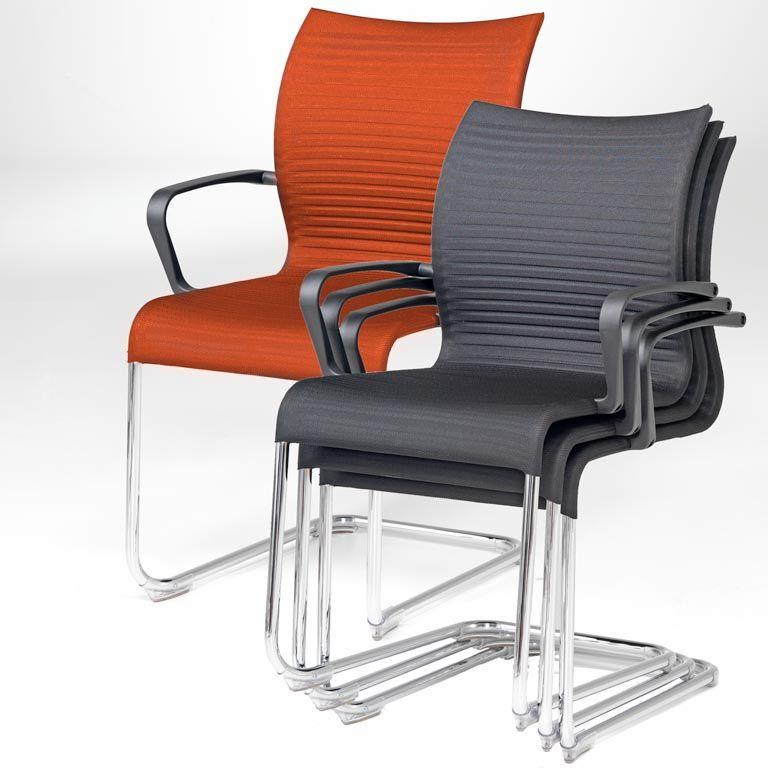Miękkie krzesło konferencyjne SIENNA z podłokietnikiem