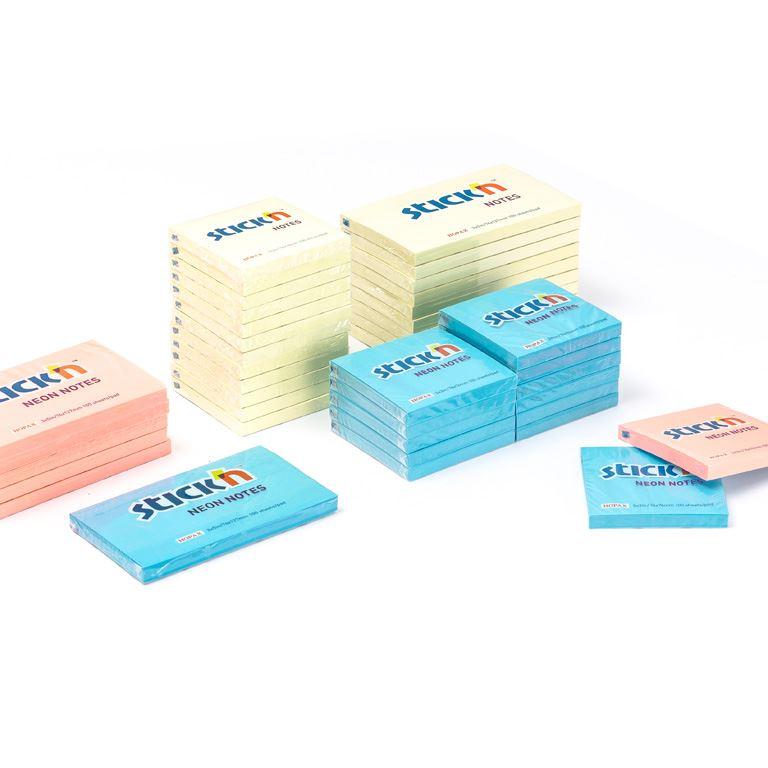 Selvklebende notatblokk, 12-pakk