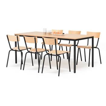 Canteen table: beech