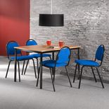 Lunchrumsgrupp bord med 4 stolar
