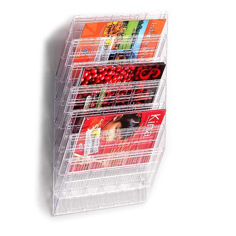 Wall mounted brochure rack