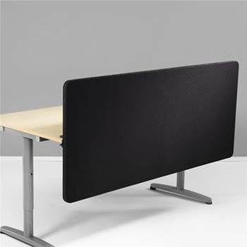 Front mounted desk screen