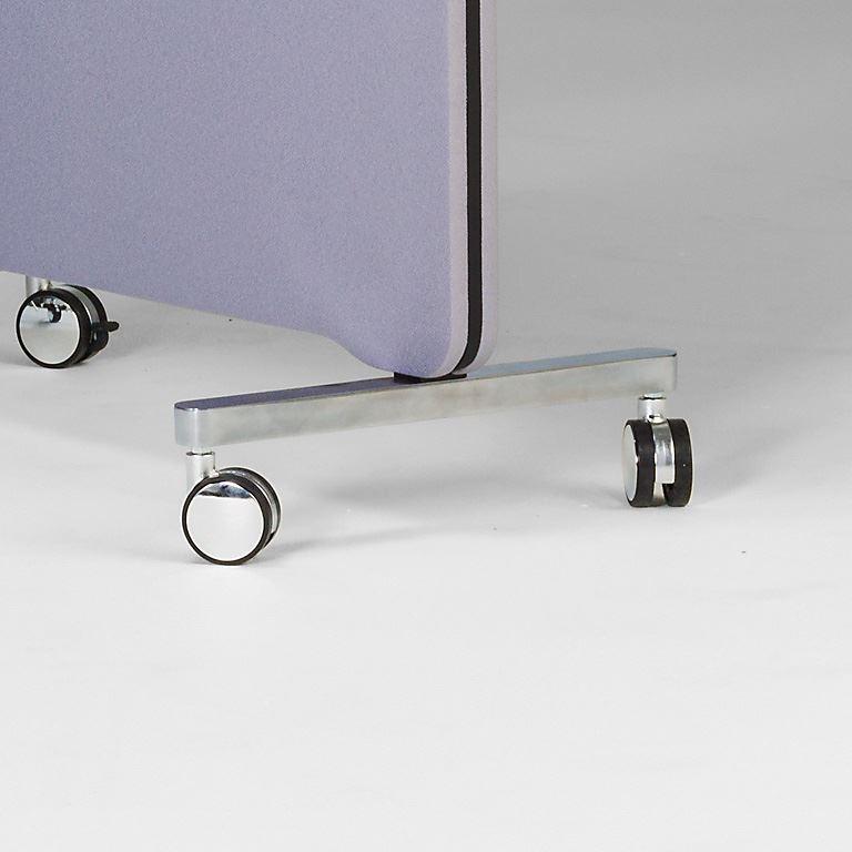 Wheels for floor screen