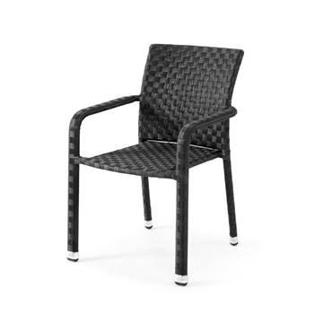 Krzesło z syntetycznego rattanu