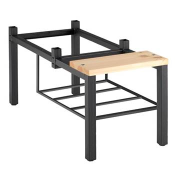 Bench frame with shoerack: pine