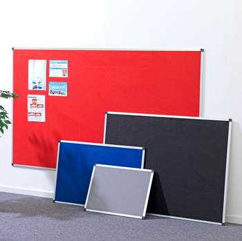 Notice boards with aluminium frame