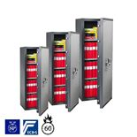 Fire & burglary safe: key/electronic lock