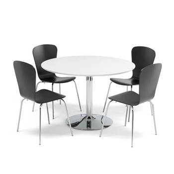 Zestaw do stołówki stół + 4 krzesła