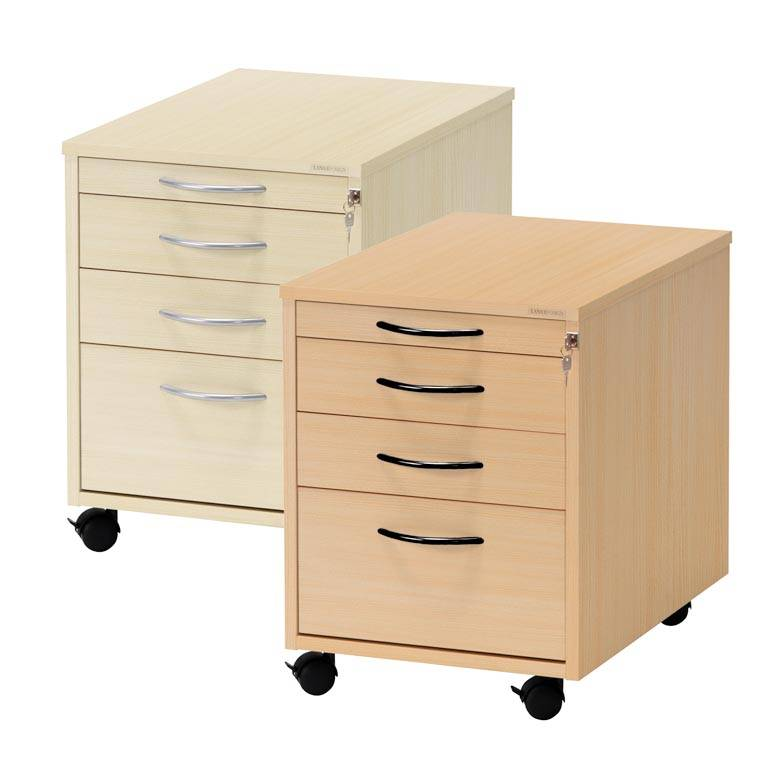 Mobile pedestal: 4 drawers