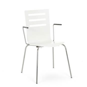 Sztaplowane krzesło z podłokietnikami