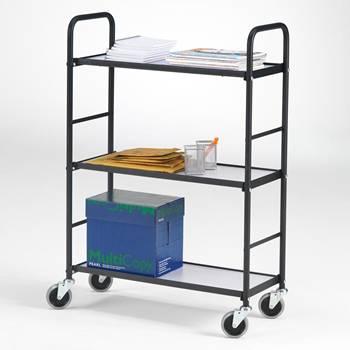 Wózek biurowy z 3 półkami