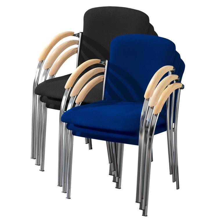 Conference chairs: chrome frame
