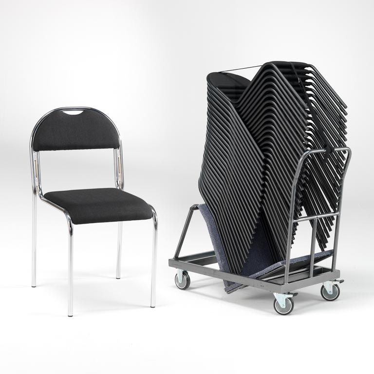 Chair trolley + 20 robust conference chairs