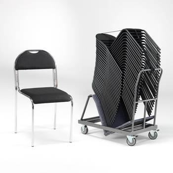 Komplet: 20 konferencijskih stolica + kolica