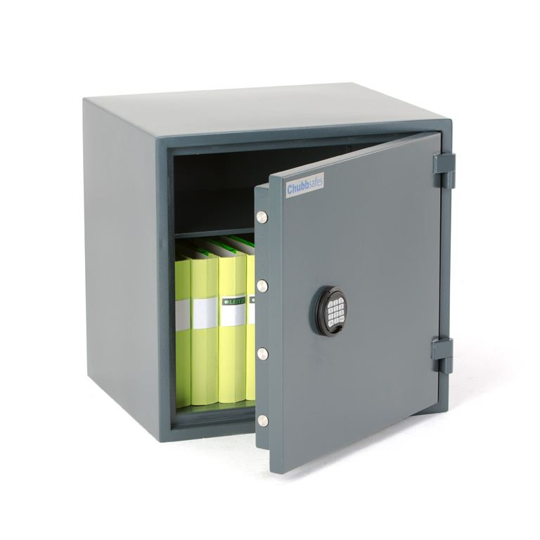 Burglary rated cabinet with electronic lock