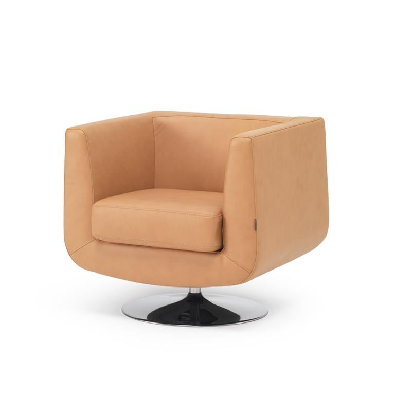 Square tub armchair