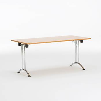 Folding conference tables