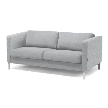 Soffa, 3-sits, beige, ulltyg, krom