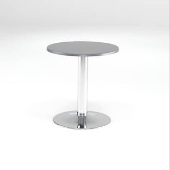 Runt cafébord med topalitskiva