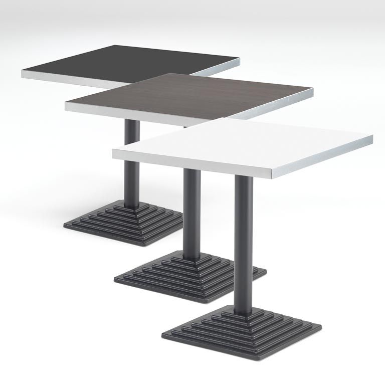 Square café tables: laminate
