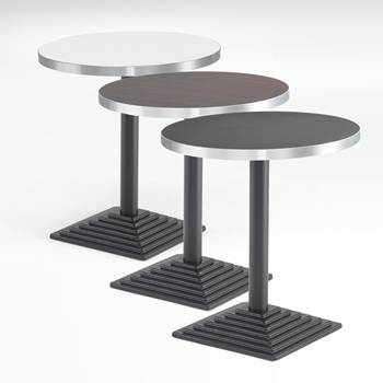 Round café tables: laminate