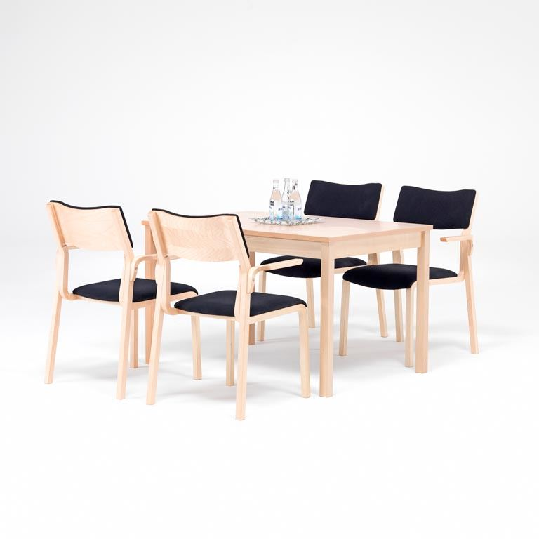 Canteen package deal: beech table + 4/6 chairs