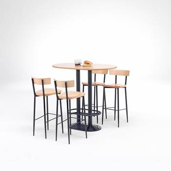 """Café"" bar package deal: 1 table + 4 chairs"