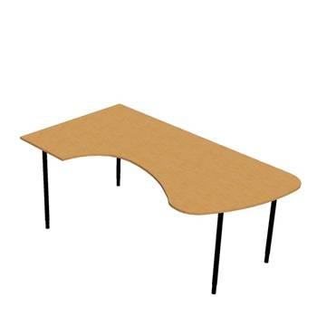 Skrivebord, Hjørne m/Bue