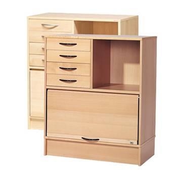 Szafka ADEPTUS z półką , szufladami i żaluzją.