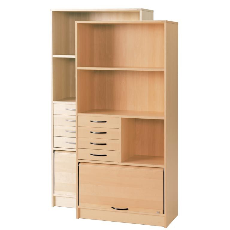 """Fixus"" cabinet: 3 shelves: shutter: drawer unit"