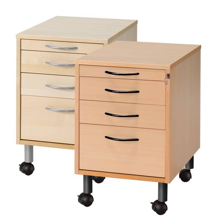 Mobile pedestal: 4 drawers