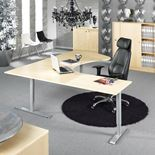 """Adeptus II"" Adjustable desk, executive L shape"
