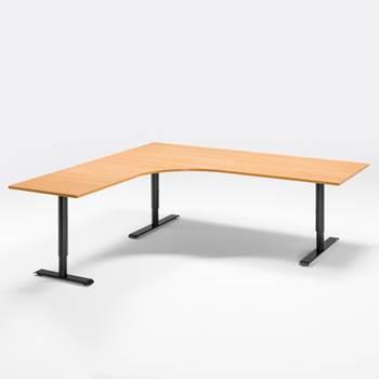 Skrivbord med stor arbetsyta, elektriskt höj- och sänkbart