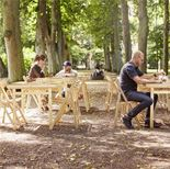 Wooden folding tables