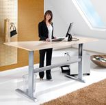 """Flexus"" height adjustable desk, wave"