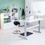 Elektrisk Hev Senk Skrivebord med Hjørne Flexus