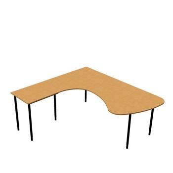 Paket: Hörnskrivbord rundad + avlastningsbord