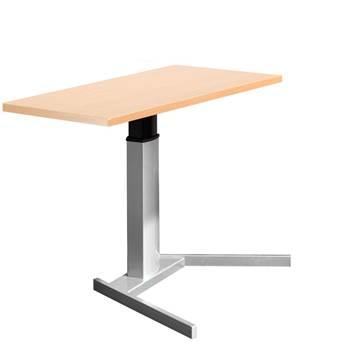 Floor standing computer workstation: straight desk
