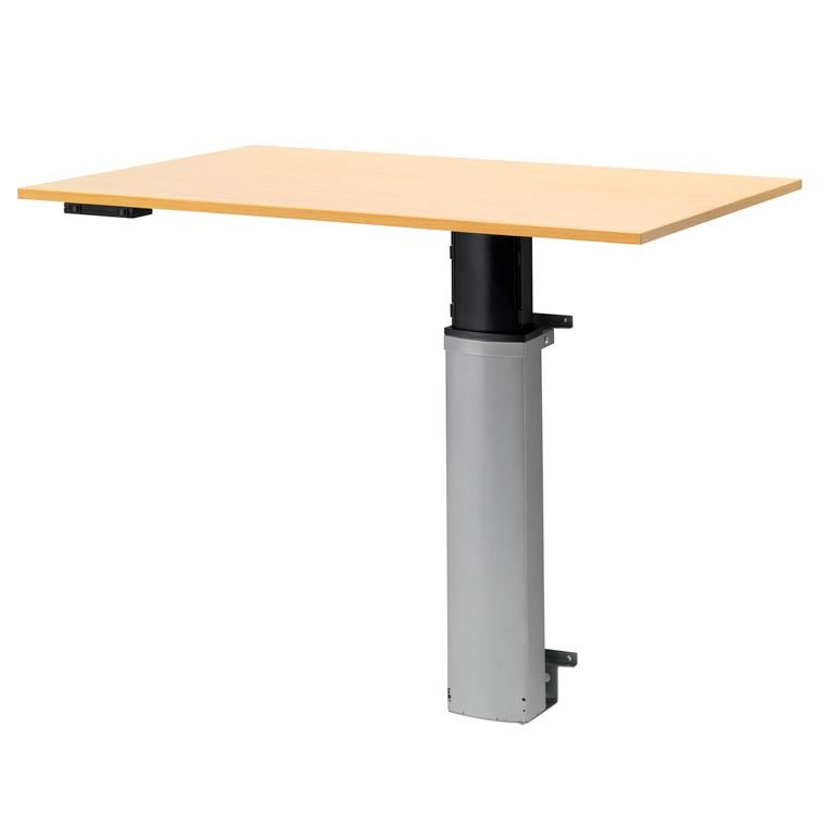 Wall-mounted height adjustable computer desk