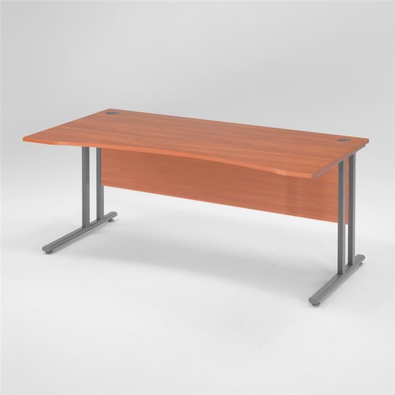 Skrivbord Flexus med rak skiva och maguttag